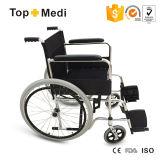 Manuelles Steel Handicapped Wheelchair mit Quick Relese Rear Wheel