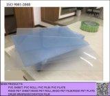 Hoja rígida clara del PVC Transparen de Matt, hoja rígida helada transparente del PVC para plegable