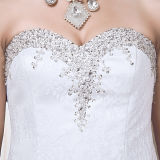 Ruffles Beads Lace Real Photos Mermaid Wedding Dresses (TM-MS013)