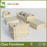 現代ホテルの藤の家具の総合的な屋外の柳細工のソファー(4302)