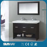 2016 heißes Sale Amerika Style Solid Wooden Bathroom Furniture mit Sink