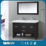 Meubles en bois solides de salle de bains de la vente 2016 de type chaud de l'Amérique avec le bassin
