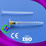 jeringuilla disponible plástica de la seguridad de la aguja hipodérmica de la cerradura de 5ml Luer
