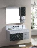 Cabina de cuarto de baño de cerámica del lavabo de los cajones del grano del diamante negro