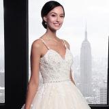 Привлекательный a - линия шнурок Tulle V-Шеи Appliques вышитый бисером платье венчания (SL023)