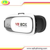 I vetri della casella 3D di Vr per il video blu della pellicola aprono il video