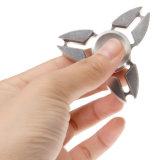 Juguete de alta velocidad de la persona agitada del hilandero de la plata de la aleación de aluminio de la mano del Tri-Hilandero