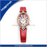 Reloj al por mayor del concepto del cuarzo de las señoras con la correa de cuero en China Psd-3324