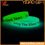 Fulgor da alta qualidade no bracelete luminoso escuro do silicone (XY-BR-027)
