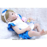 """22 """" bebê renascido - silicone da boneca para o presente carregado menina das bonecas"""
