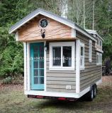 2017 nuevos hogares modulares, casas minúsculas/que adornan del acoplado el acoplado del recorrido, casas prefabricadas de madera y chalets (TH-046)
