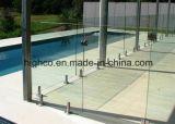 Espita inoxidable con el borde para el vidrio de 12-18m m para el cercado de la piscina