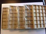 5개의 리넨 보석 전시 쟁반 24 격자 공간 & 목걸이 삽입의 제비