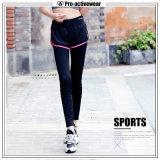 Nylon confortável dos esportes que Slimming caneleiras da ioga das mulheres