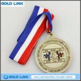 Récompense faite sur commande de sports de médailles de Taekwondo de pièce de monnaie d'enjeu de médaille en alliage de zinc