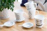 Taza de cerámica del café con leche de la porcelana al por mayor 11oz