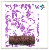 DIYのブラシのツールは花模様の装飾的なペンキローラーを浮彫りにした
