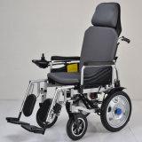 Sillón de ruedas manual de cuatro ruedas de la energía eléctrica del sillón de ruedas eléctrico