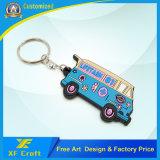 도매 제조자 PVC 저가 (XF-KC-P11)를 가진 연약한 버스 열쇠 고리 홀더
