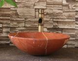 Bacino di marmo della stanza da bagno di Coralito dell'inclusione
