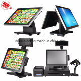 Doppelbildschirm 15 Zoll-Touch Screen Positions-Terminal-System