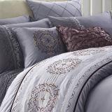 Комплект постельных принадлежностей вышивки постельного белья гостиницы хлопка типа качества европейский