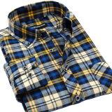 OEM Mensen CVC Lange Katoenen van het Overhemd van de Blouse van de Koker Overhemden