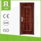 Chinesischer Sicherheits-Sicherheits-Tür-Entwurf im Metall mit Griff