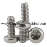 ステンレス鋼の締める物Torx駆動機構のソケットの中国ISO 14583からの円形のヘッド帽子ねじハードウェアの工場