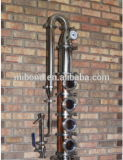 Precio de acero cobreado inoxidable modular de la columna de destilación de la flauta del alcohol de 4 pulgadas