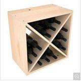 """Visualización de la botella del cuadro de extremo de madera y del metal del sostenedor de botella del estante 12 del vino de la vendimia 17 """""""