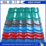 가벼운 강철 구조물 건물에 지붕용 자재를 위한 PPGI 강철로 만드는 물결 모양 색깔 강철판