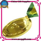 Medalla de bronce del metal, medalla en blanco