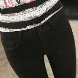 2017 джинсыов черноты света повелительниц конструктора джинсовой ткани весны