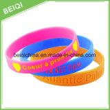 Bracelet fait sur commande en gros en caoutchouc de silicones pour la promotion