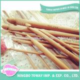 Ganchos de Leva de Ganchillo de Bambú Monopunto de las Agujas Que Tejen a Mano