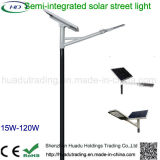 luz de rua solar Semi-Integrated do diodo emissor de luz 30W para ao ar livre
