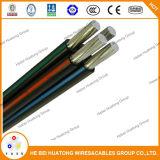 Cable de gota de aluminio de /Service del cable del ABC del conductor para Suramérica