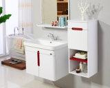 洗面器が付いているカスタマイズされたMDFの白い浴室の虚栄心のキャビネット