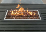 Таблица ямы пожара ротанга софы сада установленная с софой шарнирного соединения