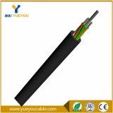 Cable flojo de fibra óptica del tubo de 12 memorias SM 9/125 al aire libre