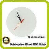 Часы пустой стены MDF сублимации оптовых продаж с свободно образцами