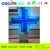 cruz lateral doble P10 P16 P20 P25 de la farmacia de 3D LED