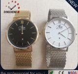 Dw安い様式のステンレス鋼、カスタムロゴ(DC-677)の合金の革腕時計