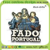 Coq promotionnel personnalisé du Portugal de souvenir d'aimants de réfrigérateur de PVC de décoration de cadeaux (RC-PT)