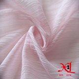 Tela Chiffon de seda cor-de-rosa do enrugamento para o vestido