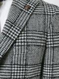 Grauer Check-klassischer nach Mass angefertigter Mann-Umhüllungen-Blazer