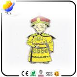 Chaîne principale de petite forme mignonne d'homme de logo d'émail de robe longue de dragon d'empereur de la Chine