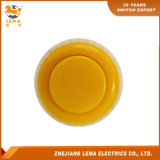 Jaune électrique Pbs-010 de commutateur de bouton poussoir de 27.4mm
