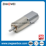 20mm 12V Low Noise Low Rpm Motor de engrenagem CC pequeno